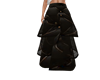 #C# blk,gold long skirt