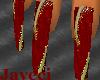 ]J[ GoldRed Nails