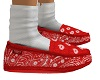 STEM Bandana Red Slipper