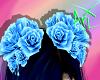 *V* Hair Roses Blue