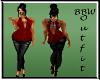 BBW Red Winnie outfit