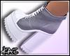 Grey Sneaker Heels