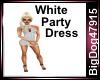 [BD] White Party Dress
