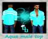(DD) aqua male shirt