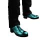 Teal M Dress Shoes
