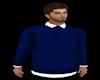 Blue Sweater White Shirt
