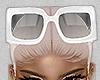 white glasses head