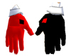(Q) Black and Red Gloves