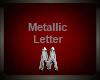 Silver Metallic Letter M