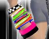 Emo rainbow bracelet