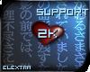 8k Support Sticker