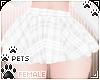 [Pets]Plaid skirt |White