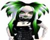 3 color dreads gr,bl,wh