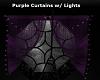 Purple Curtains w/ Light