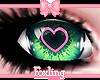 🎀Heart eyes Green