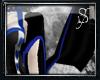*S Heart Sleeves-Blue