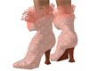 Coral Blush Lace Boots