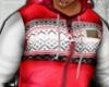 [EK] Red+White Hoodie