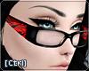 |C| Glasses Zebra Red