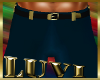 LUVI NAVY-GOLD SLACKS