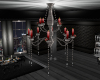 Crome Red Chandelier