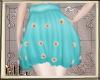 Spring blue skirt