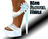 Blue FLower Heels