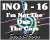 I'm Not The One-The Cars