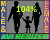 104% Tall