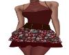 Bella Burgundy Dress