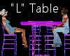 """""""L"""" Club Table for 4"""
