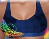 Blue Tartan Sports Bra