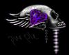 Skull Love sticker Purpl