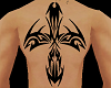 Z Tribal Back Tattoo