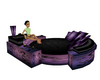LXF Purple corner couch
