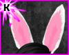 ~K White bunny ears