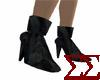 Black Denim Ankle Boots