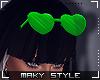 M:Green glasses