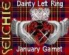 !!S Claddagh Garnet FLR
