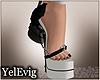 [Y] Black skull heels