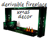 Derv Xmas Fireplace Wall