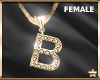 """SF  Letter """"B"""" Necklace"""