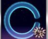 ! 3D Neon Blue Letter C