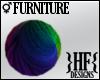 }HF{ Rainbow Yarn Ball