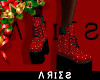 Red Glitter Boots