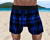 Blue PJ Shorts Plaid (M)