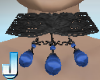 Burlesque Choker - Blue