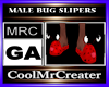 MALE BUG SLIPERS