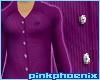 Purple Pin Stripe no Tie