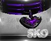 *SK*Heart Choker(purple)